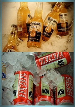 coronas o tecates