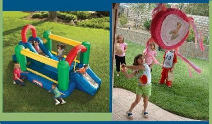 para que esta fiesta de cumpleaos o de da del nio sea divertida no olvides el inflable los juegos para los niosponle la cola al burro